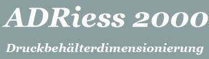 ADRiess 2000 - Druckbehälterdimensionierung